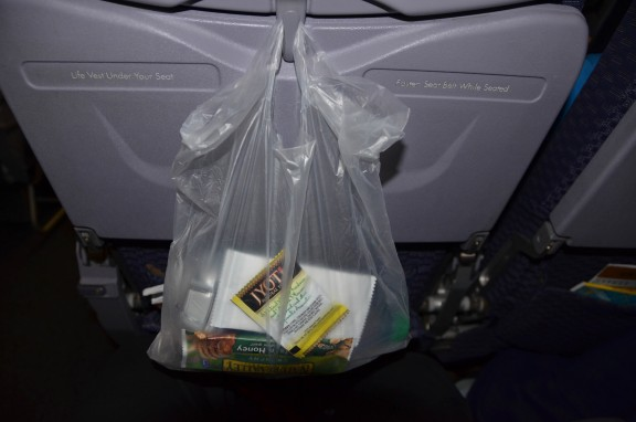 United Airlines snack