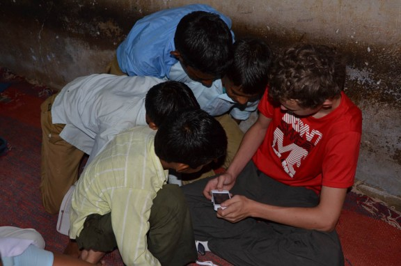Video games at village school - Jaipur, India