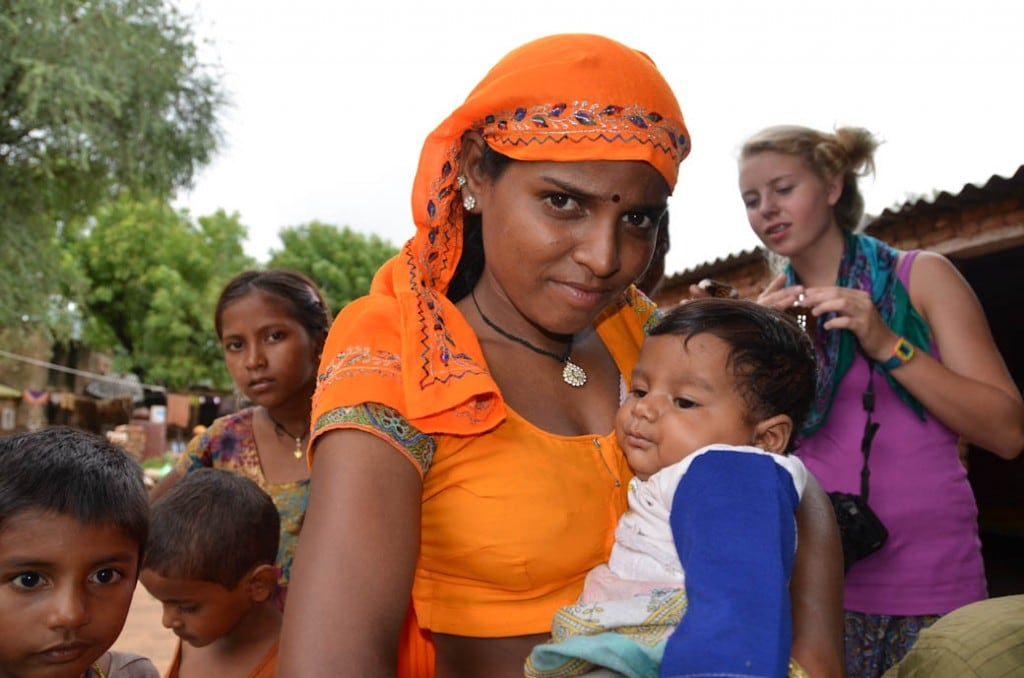 Village Tour - Mother and Baby - Jaipur, India