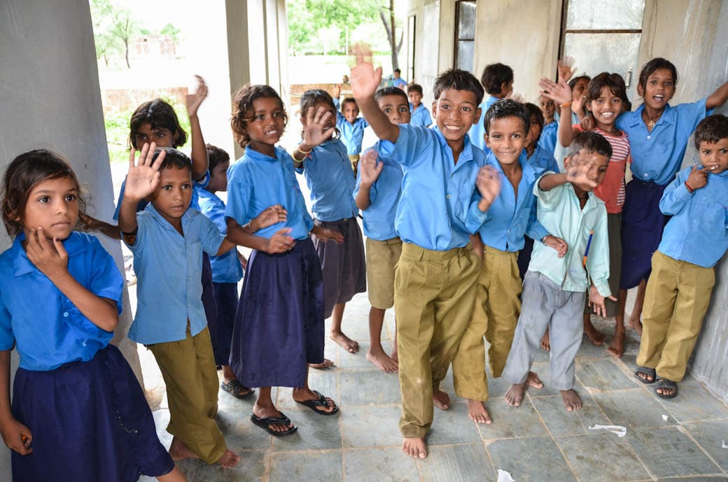 Village school children - Jaipur, India