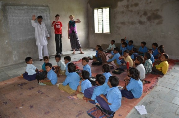 Village school classroom- Jaipur, India