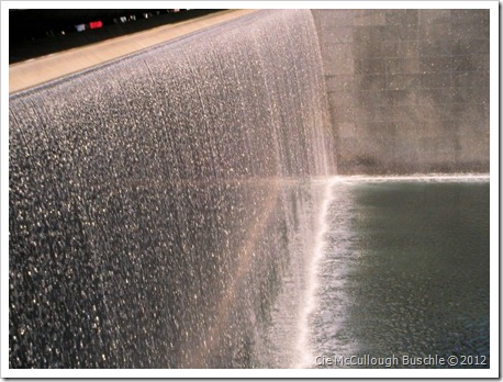 Waterfall, Footprint of WTC 1, National September 11 Memorial, New York City