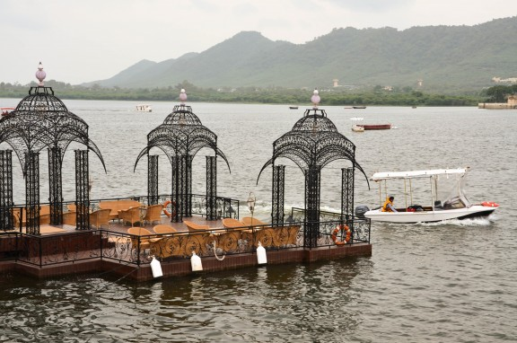 Taj Lake Palace dock