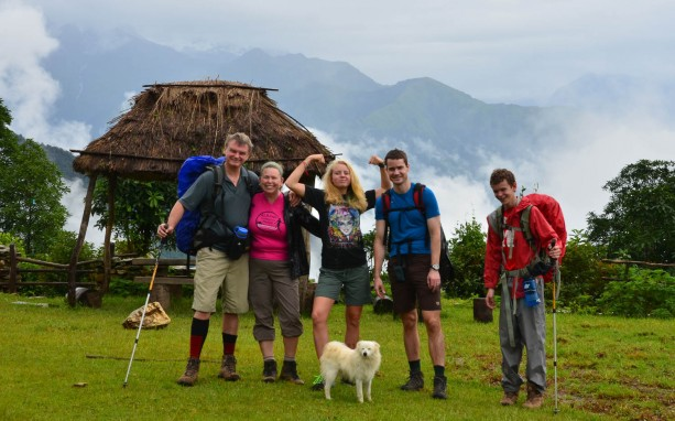 The Foyt Family and friends trekking in Nepal.