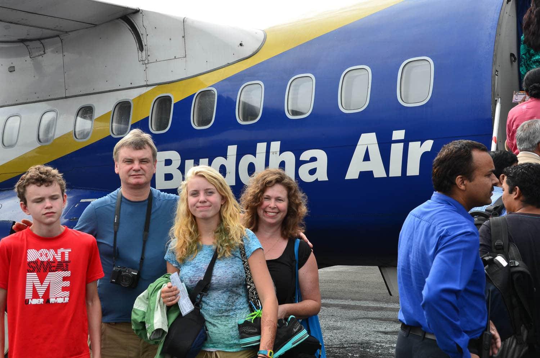 Foyt Family - Buddha Air - Kathmandu, Nepal