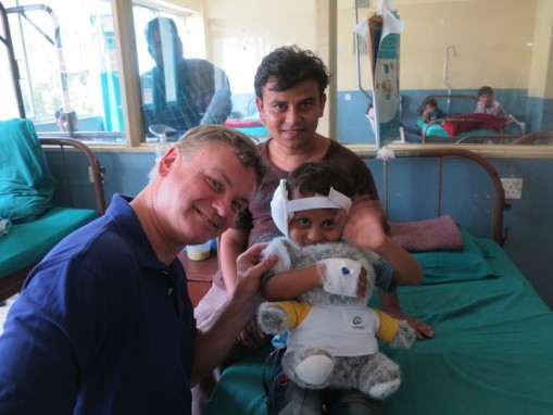 Child receives cochlear implant - Kathmandu, Nepal