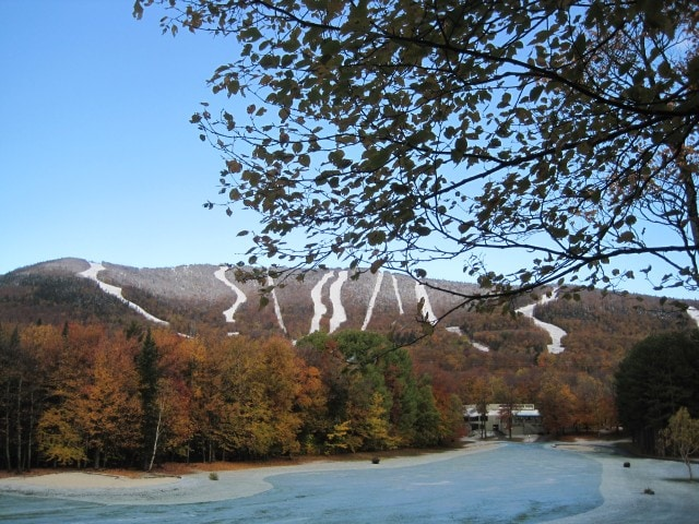 First snow - Mont-Sainte-Anne - October 12, 2012 - Quebec, Canada