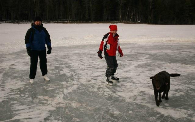 ice skating outdoors