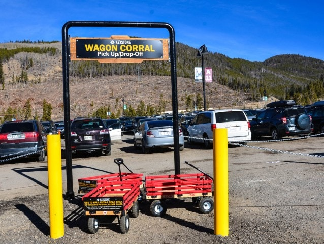 Keystone parking wagon corral