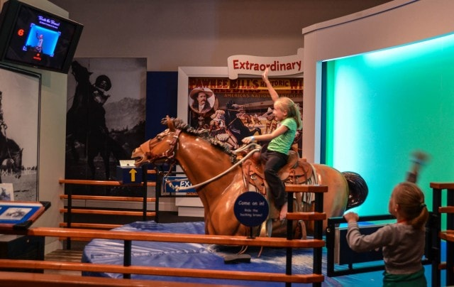 bronco ride - cowgirl museum - Fort Worth, TX