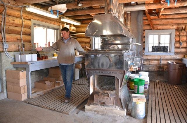 Inside Henry Uihlein's sugar shack with Mike Farrell.