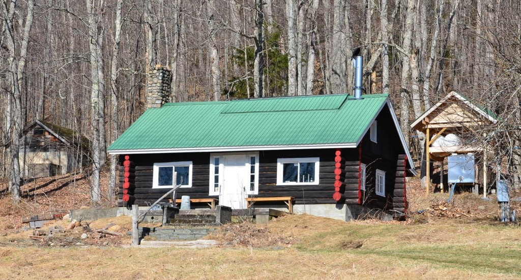 Turn of the century sugar shack once owned by Henry Uihleim on Heavenly Hills Farm in Lake Placid, NY.