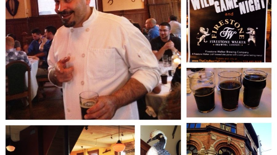 Chef Dimitrio Menagias at Wild Game Night at The City Beer Hall   Albany, NY
