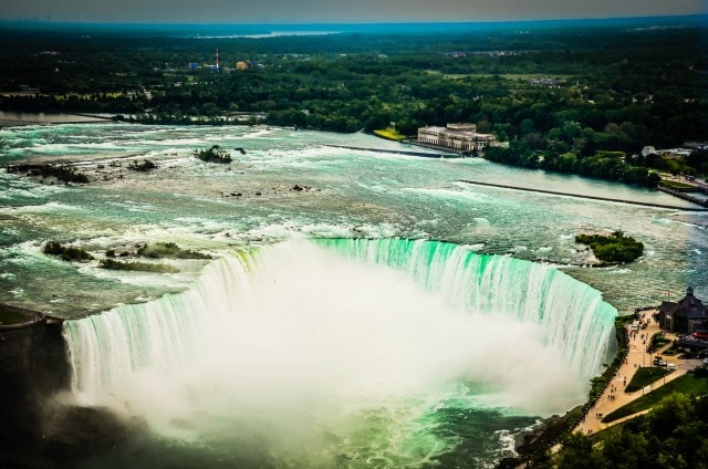 Horseshoe Falls viewed from Skylon Towers - Niagara Falls, ON