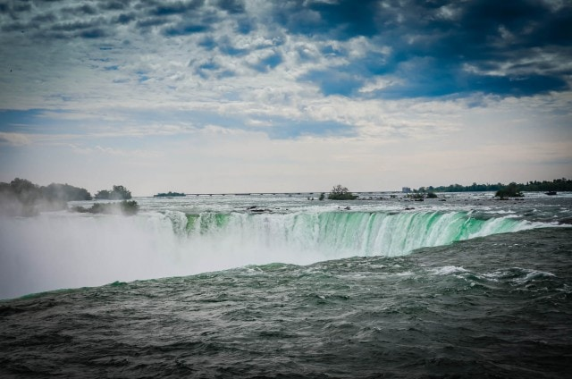Horseshoe Falls seen from Table Rock Center in Niagara Falls, Ontario