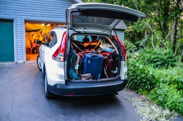 Packed Honda CRV