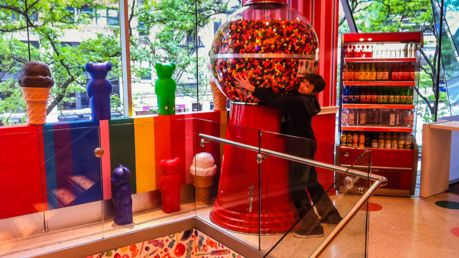 Giant gum ball at Dylan's Candy Bar in New York City.