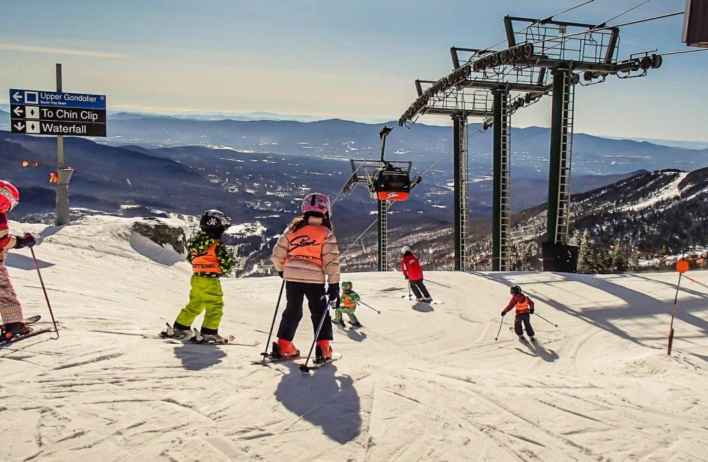 ski slopes at Stowe