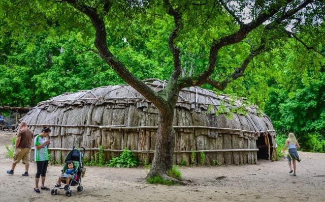Bark-Covered House - Wampanoag Homesite - Plimoth Plantation - Plymouth MA