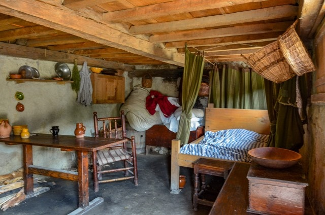 Inside Colonial Home - Plimoth Colony