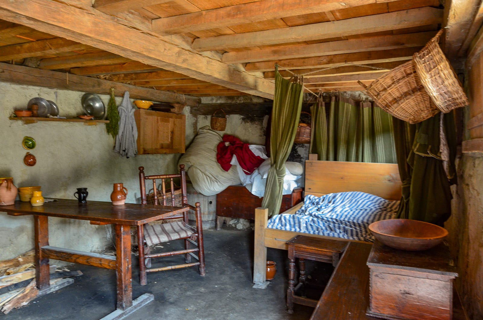 Inside Colonial Home Plimoth Colony Albany Kid Family