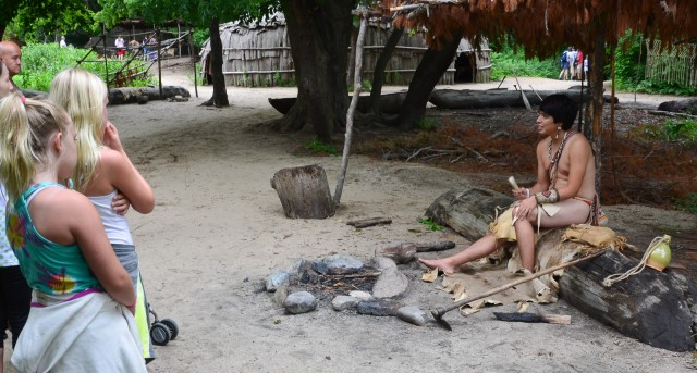 Native Boy Curing Leather - Wampanoag - Plimoth Plantation - Plymouth MA