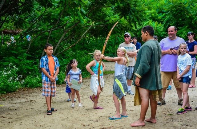 Archery Lesson - Wampanoag Homesite - Plimoth Plantation - Plymouth MA