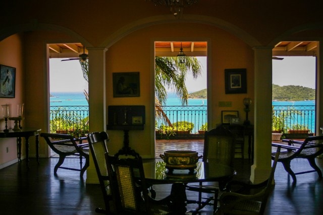 Haagensen House interior - Blackbeards Castle - US Virgin Islands